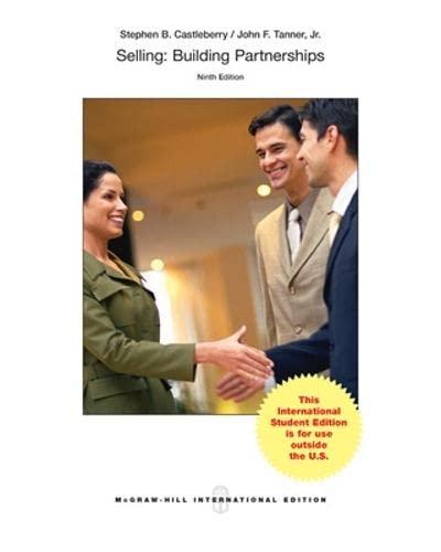 9780071315500: Selling: Building Partnerships (Int'l Ed)