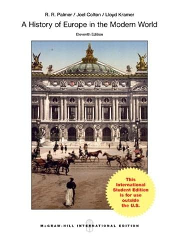 9780071315562: A History of Europe in the Modern World