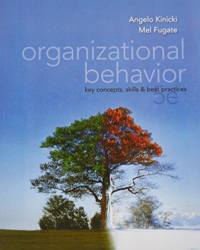 9780071315685: Organizational Behavior: Key Concepts, Skills & Best Practices