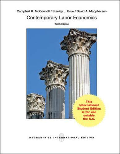 9780071315715: Contemporary Labor Economics (Int'l Ed) (College Ie Overruns)