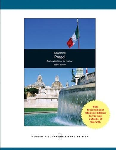 9780071315807: Prego! An Invitation to Italian