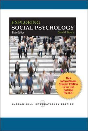 9780071316125: Exploring Social Psychology