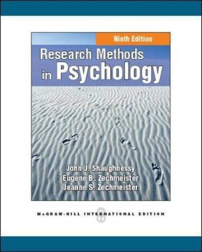9780071316514: Research Methods in Psychology
