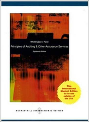 9780071316880: Principles of Auditing and Other Assurance Services