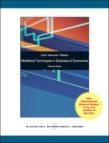 9780071316989: Statistical Techniques in Business and Economics