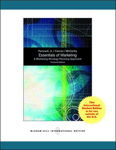 9780071317023: Essentials of Marketing