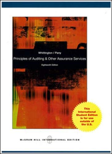 9780071317139: Principles of Auditing and Other Assurance Services
