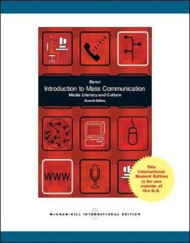 9780071317153: Introduction to Mass Communication: Media Literacy and Culture (Int'l Ed)