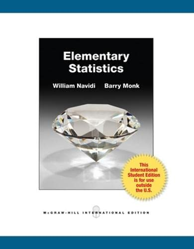9780071317511: Elementary Statistics. by William Navidi, Barry Monk