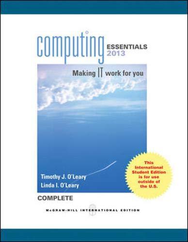 9780071317535: Computing Essentials 2013 Complete Edition