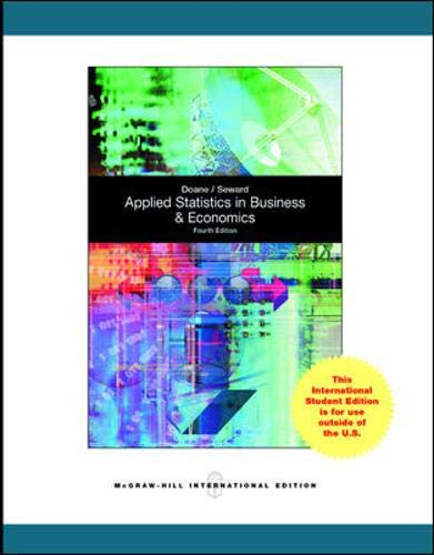 9780071317627: Applied Statistics in Business and Economics