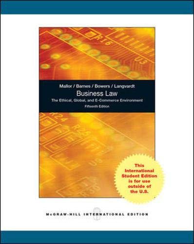 9780071317658: Business Law: The Ethical, Global, and E-Commerce EnvironmentFifteenth 15th Edition - International Edition