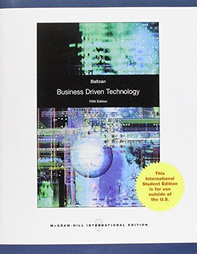 9780071317795: Business Driven Technology