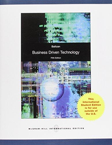 9780071317795: Business-Driven Technology