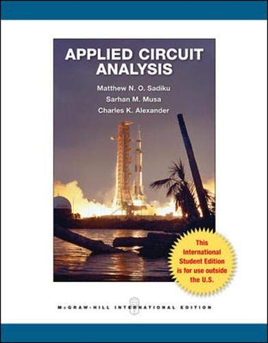 9780071317825: Applied Circuit Analysis
