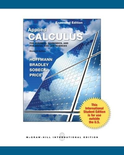applied calculus hoffman 11th edition pdf