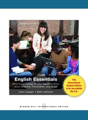9780071317887: English Essentials (Int'l Ed)