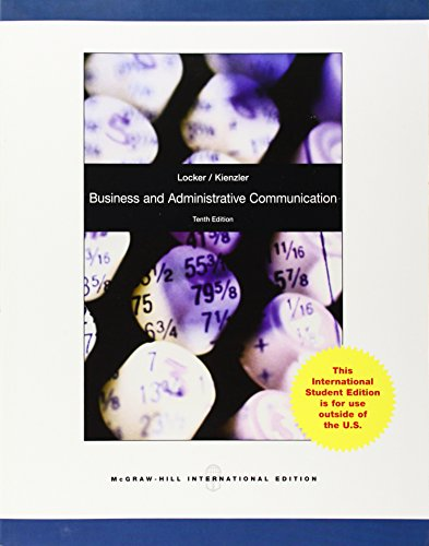 9780071317955: Business and Administrative Communication