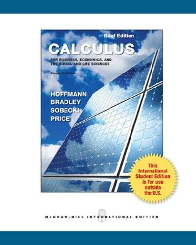 9780071317979: Calculus for Business, Economics and the Social and Life Sciences, Brief Version