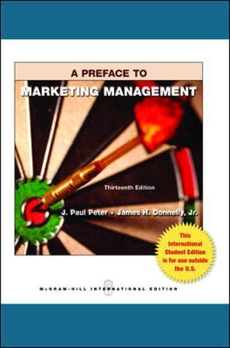 9780071318020: Preface to Marketing Management