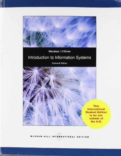 Introduction to Information Systems, Loose Leaf: O'Brien, James A.;