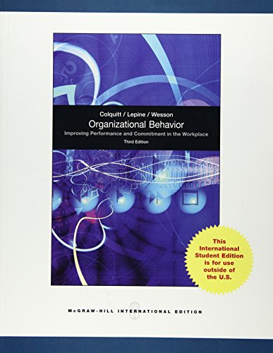 9780071318112: Organisational Behaviour: Improving Performance and Commitment in the Workplace