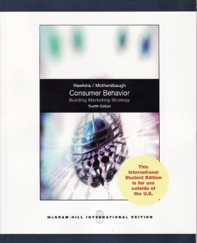 9780071318174: Consumer Behaviour: Building Marketing Strategy