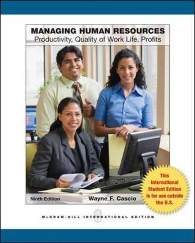 9780071318198: Managing Human Resources (Int'l Ed)