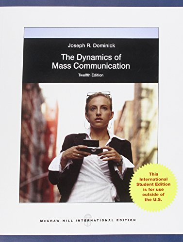 9780071318266: Dynamics of Mass Communication: Media in Transition