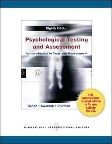 9780071318273: Psychological Testing and Assessment An Introduction to Tests and Measurement