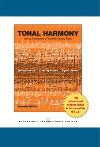 9780071318280: Tonal Harmony (Int'l Ed)