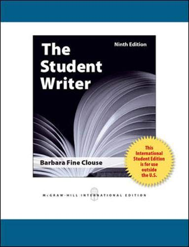 9780071318327: The Student Writer