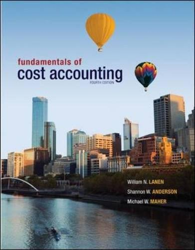 9780071318358: Fundamentals of Cost Accounting (Int'l Ed)