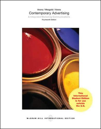 9780071318389: Contemporary Advertising (Int'l Ed)
