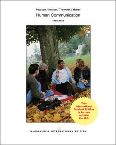 9780071318501: Human Communication