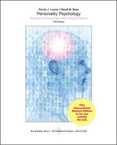 9780071318525: Personality Psychology: Domains of Knowledge About Human Nature (Int'l Ed)