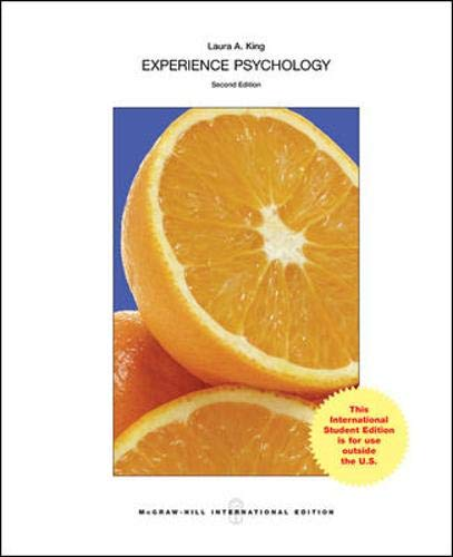 9780071318532: Experience Psychology