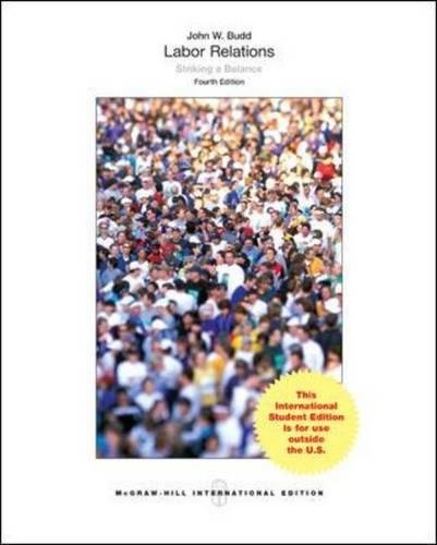 9780071318556: Labor Relations: Striking a Balance (College Ie Overruns)