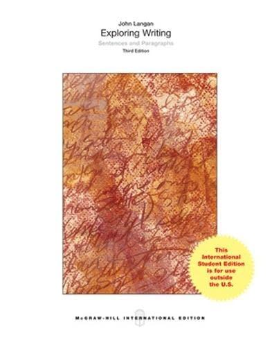 9780071318617: Exploring Writing: Sentences and Paragraphs