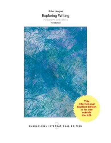 9780071318624: Exploring Writing: Paragraphs and Essays