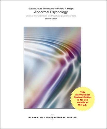 9780071318679: Abnormal Psychology Clinical Perspectives on Psychological Disorders