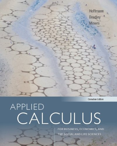 9780071318839: Applied Calculus with Connect, Cdn Edition [Hardcover] by Hoffmann, Laurence