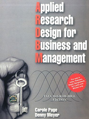 Applied Research Design for Business and management: Caroline Page