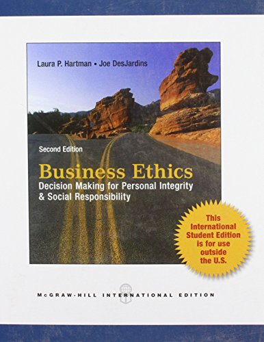 9780071323819: Business Ethics: Decision-Making for Personal Integrity and Social Responsibility
