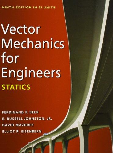 9780071323963: Vector Mechanics for Engineers: Statics (SI units)