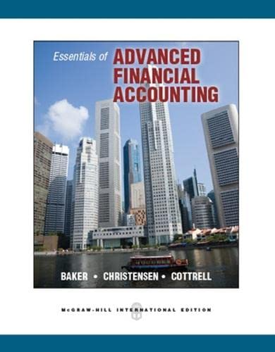 9780071325998: Essentials of Advanced Financial Accounting
