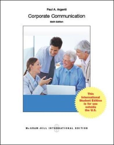 9780071326155: Corporate Communication
