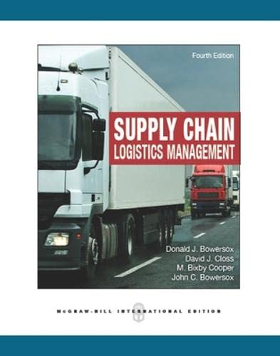 9780071326216: Supply Chain Logistics Management