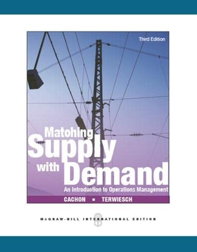 9780071326223: Matching supply with demand: an introduction to operatiions management (Economia e discipline aziendali)