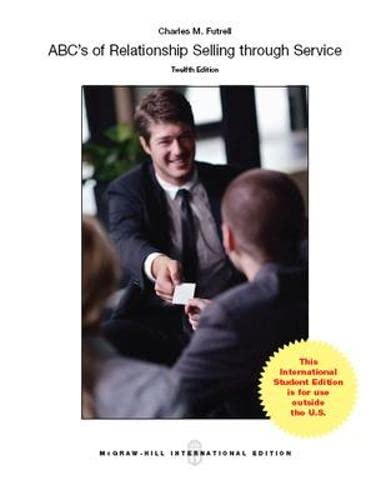 9780071326292: ABCs of Relationship Selling (Int'l Ed)